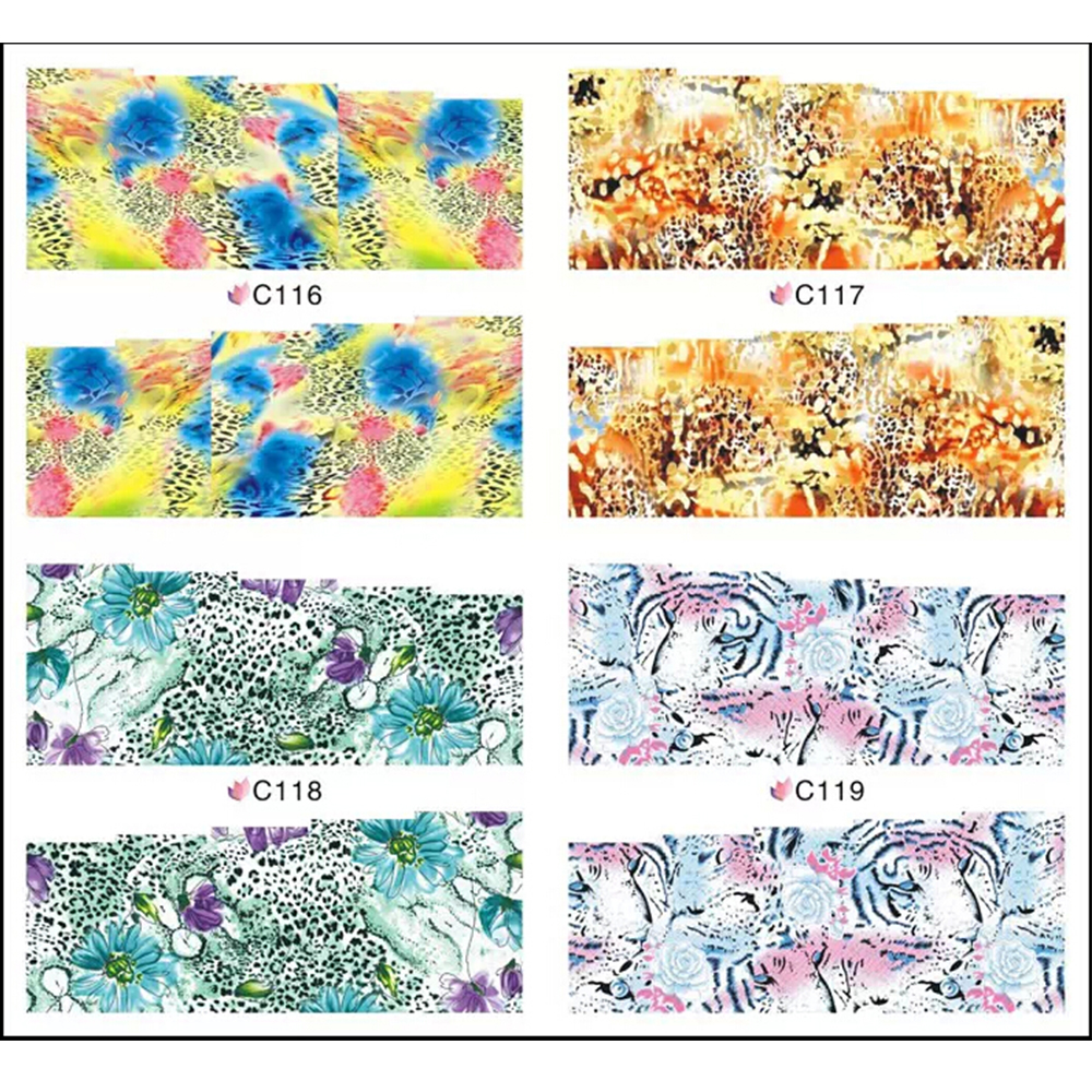 1sheets Fashion 3d Designs Manicure Tools Sexy Products Nail Art Water Transfer Manicure Pedicure Styling Tools C116-119(China (Mainland))