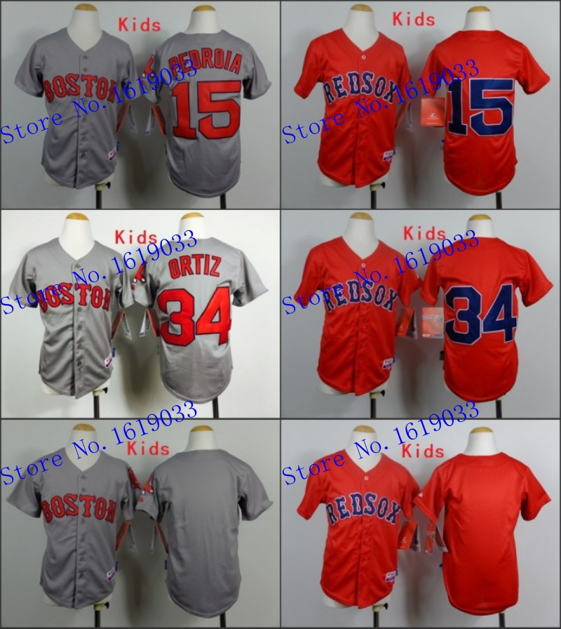 Sale Cheap Men's 15 Dustin Pedroia Red Blue grey , Embroidery logs Hot Sell Free Shipping(China (Mainland))