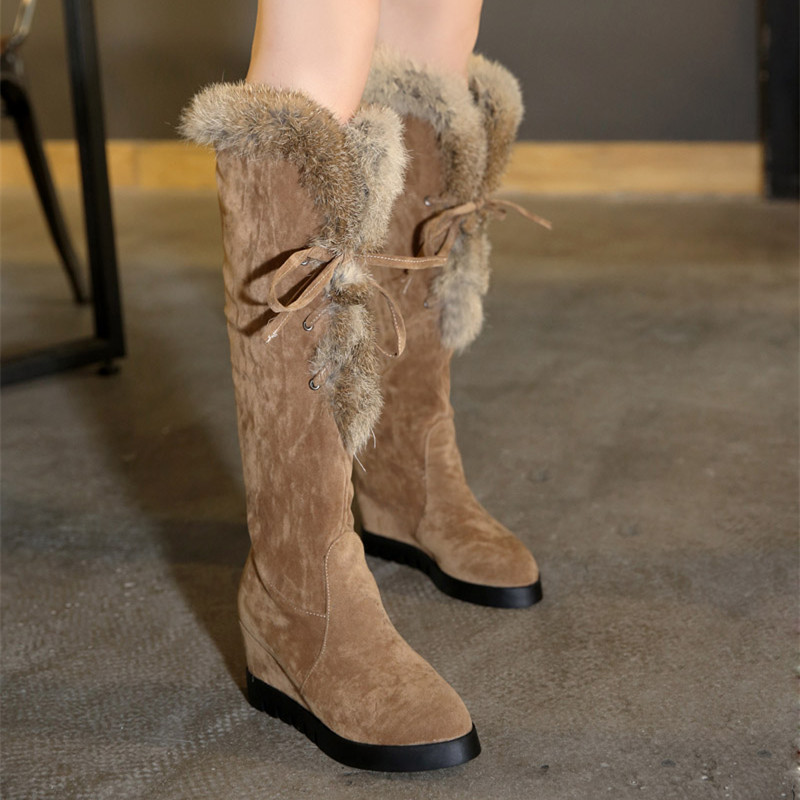 Hot Sale Women Knee High Boots Autumn and Winter Fashion Long Boot Winter Footwear Snow Boots for Girls EUR Size 34-43<br><br>Aliexpress