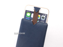 A3 EASECASE Custom-Made Leather Sleeve Holder Case for Apple iPhone 6 Plus iPhone6 Darkblue