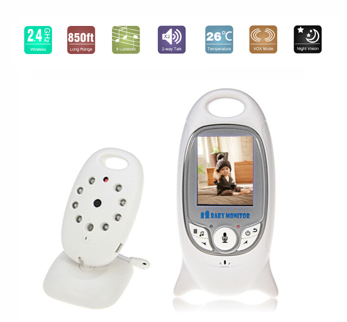 new 2 lcd video baby monitor security system cameras wireless with night vision free shipping. Black Bedroom Furniture Sets. Home Design Ideas