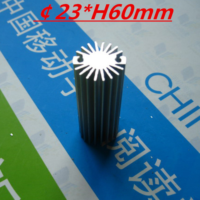 LED heatsink ,Diameter :23mm H:60mm,aluminum heatsink , LED cooler ,LED radiator(China (Mainland))