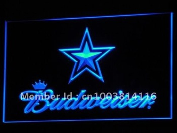 b274-b Dallas Cowboys Budweiser Bar LED Neon Light Sign