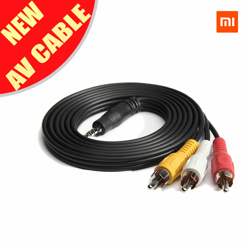 Xiaomi AV Cable 3.5mm Jack to RCA Audio Video AV Cable Adapter 1.5m for xiaomi box 3 and enhanced version(Hong Kong)
