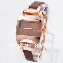 A piece/lot Fashion Luxury Women Watch Stainless Steel Leather Sexy Lady Watch High Quality  Famous Brand  Free Box Gift