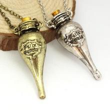 free shipping Hot Sale Harry Felix Felicis Potion bottle necklace Movie Jewelry Fashion Jewelry