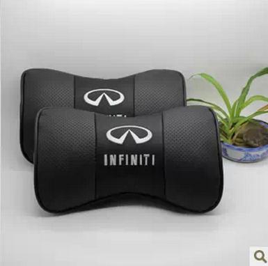 Black real Leather Car Seat Neck Rest Belt Headrest For Infiniti G JX EX EX25 EX35 FX FX35 Q50 Q60 Q60S Q70L QX QX50 QX70 QX80(China (Mainland))
