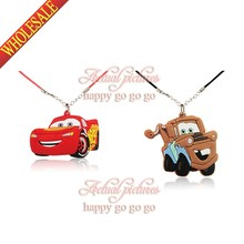 2pcs/set Cars PVC Necklace Chains fit for Kids Pendants Accessories Travel Accessories Free Shipping(China (Mainland))