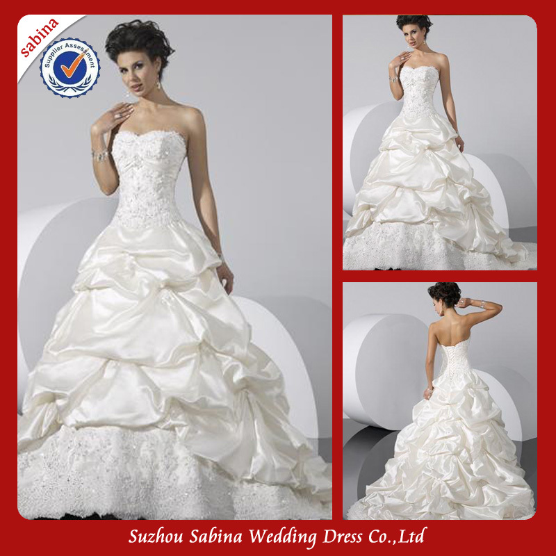 WB00117 Elegant Sweetheart Grasp The Robe Ball Gown Modern Western Wedding Dresses Pictures In