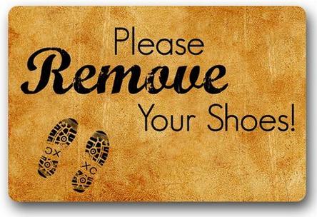 Hot sale custom remove our shoes door mat art design pattern printed carpet floor hall bedroom - Remove shoes doormat ...