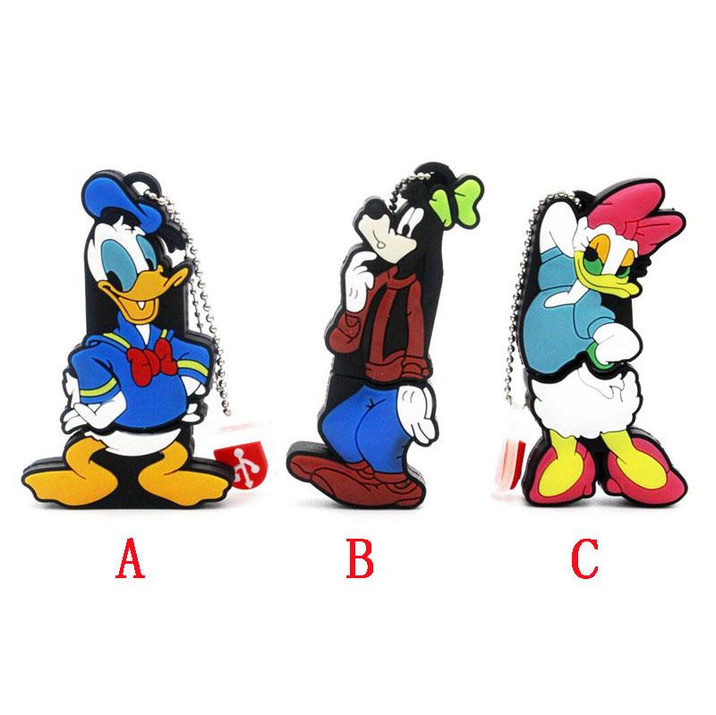Donald Duck usb flash drive cartoon Daisy Duck pendrive 4GB 8GB 16GB 32GB Pen Drive Goofy U disk Memory Stick pendrive key chain(China (Mainland))