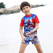 HOT Boys Swimsuit Summer 2016 cartoon Swimsuit kids boys two-pieces Swimwear Child swimmer boy kids swim shorts bikini