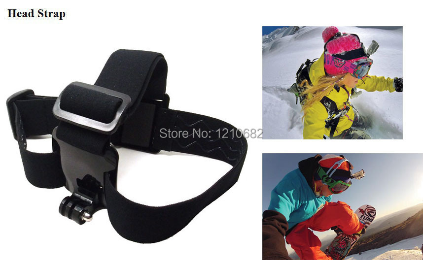 mount for go pro Accessories Chest Head Strap Monopod Float for xiaomi yi Gopro Hero 4 3 3+2 5 sj 4000 5000 sj6000 action camera