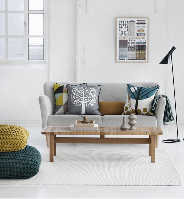 European Modern Pillows Geometry Tree cushion pillow grid cushion pillowcase for Car pillows in home decoration
