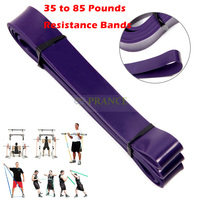 2015 Fitness Equipment 35 to 85 Pounds Resistance Bands Physio Expander Rubber Band Pull Up Crossfit For Exercise Pilates #03010