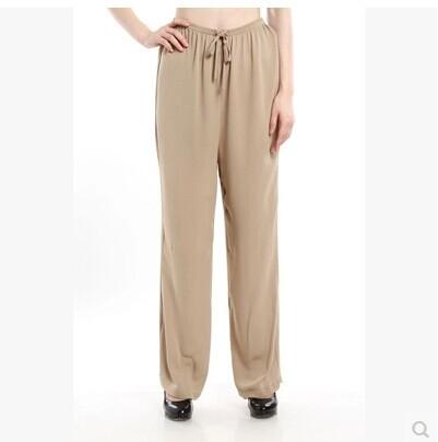 Здесь можно купить  Heavy pound pure Sisang beige / black silk pants  Одежда и аксессуары