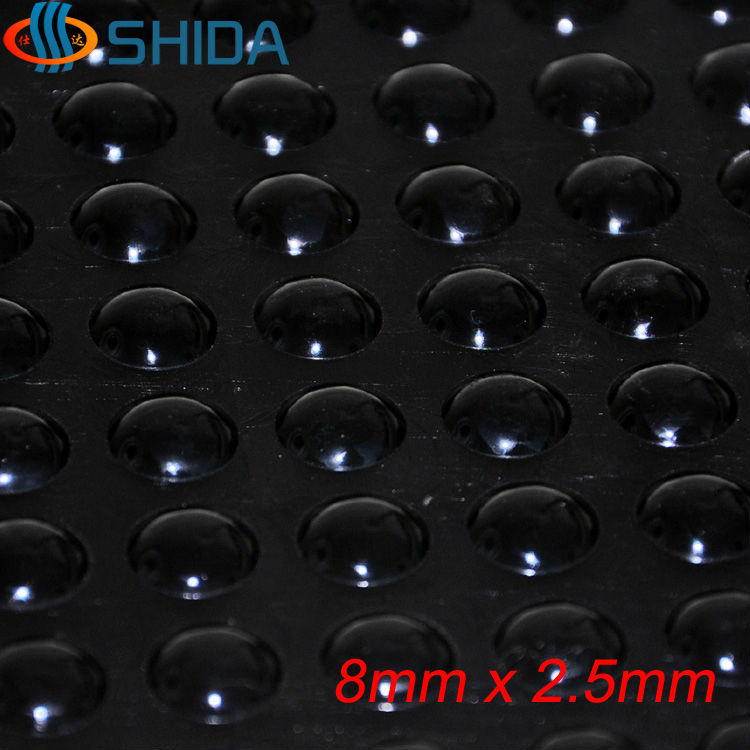 Wholesale 2000PCS 8*2.5mm Self Adhesive Soft Black Anti Slip Round Bumpers Silicone Rubber Feet Pads Sticky Shock Absorber(China (Mainland))