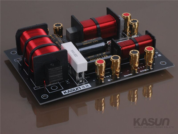 3 way Crossover MKP-3988C frequency divider filter for KTV Professional stage speaker 350W<br>