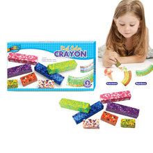 Artoys 7pcs Multi-color Crayons Set  Rich Color  High Quality 100% safe non-toxic Children's DIY Educational Toys Gift EJAE021(China (Mainland))