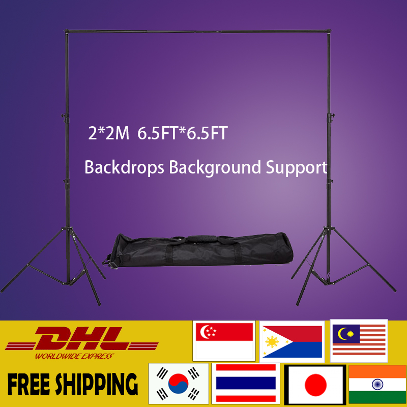 2MX2M 6.5FTX6.5FT Background Backdrop Stand Support System Professinal Photography Photo studio + carry bag(China (Mainland))