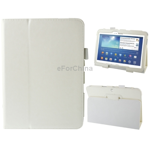 Гаджет  Free Shipping Crazy Horse Texture Leather Case with Holder for Samsung Galaxy Tab 3 (10.1) / GT-P5200 (White) None Изготовление под заказ