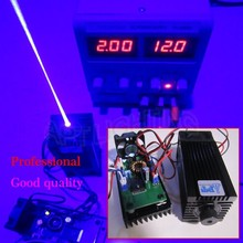 REAL 3500mw/3.5w 445 445nm 450nm blue Focusable Stage Light RGB Laser  Module diode High Power  laser cutter/Compact Design/TT L