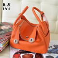 2016 Fashion New Brand Designer Women Casual Tote Bags Cow Genuine Leather Handbag Shoulder Bag Solid