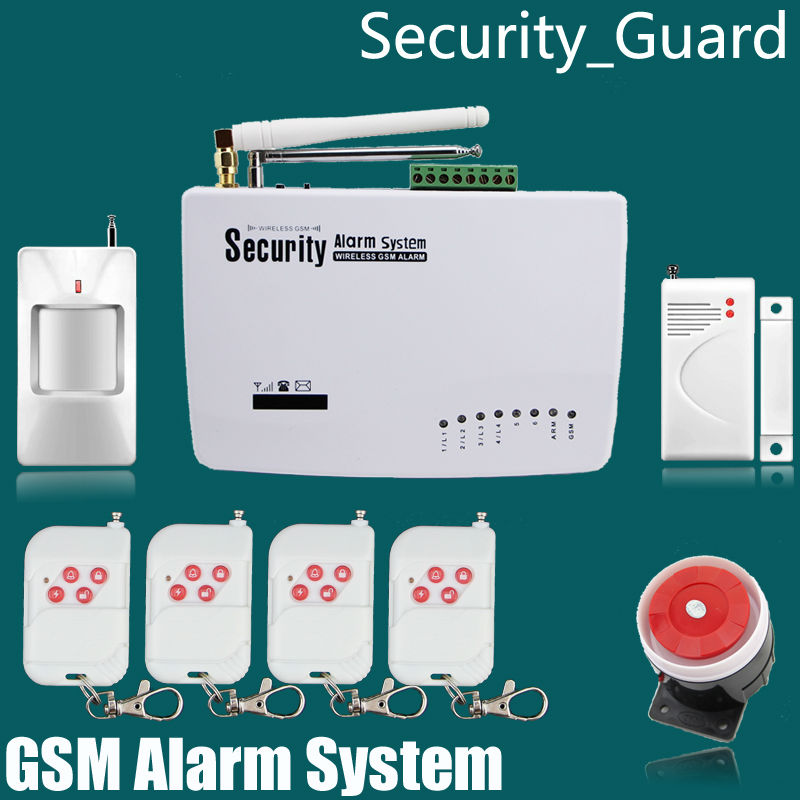 Free shipping wireless GSM home Burglar security alarm system 433 MHZ wireless 2pcs PIR detector door 2pcs magnetic detector<br><br>Aliexpress