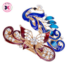 Buy Haimeikang 1PC Peacock Butterfly Hairpin Women Hair Clip Rhinestone Barrette Hair Clips Women Girls Hair Accessories for $1.89 in AliExpress store