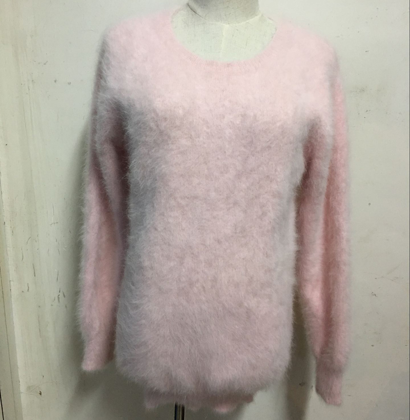 New genuine mink cashmere sweater women  cashmere pullovers knitted pure mink jacket Customized color free shippingM286