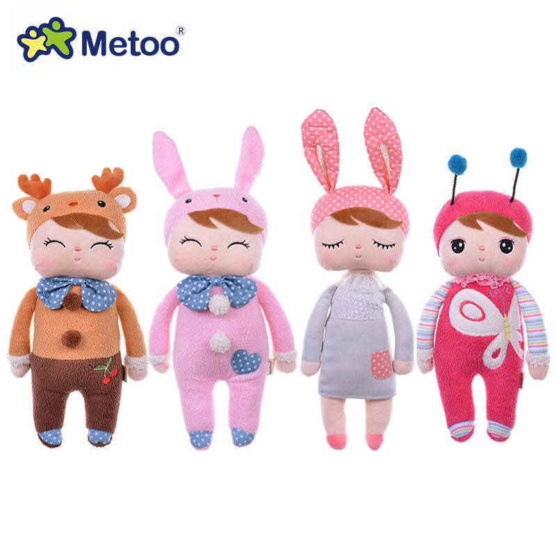 Genuine Metoo Angela plush dolls baby toy for children girl kids toys gift Lace Bunny Rabbit stuffed & plush animals(China (Mainland))