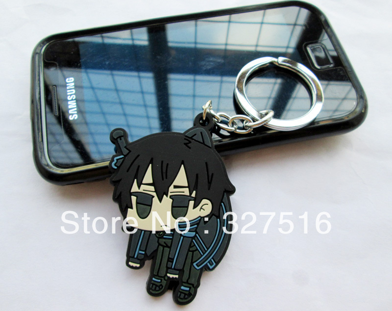 Japanese anime Sword Art Online Keychain+Mobile dust plug 10 pcs/set Birthday Gift