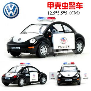 4 soft world beetle police car WARRIOR car alloy model(China (Mainland))