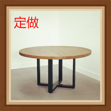 Factory direct American country retro simple wood tables large dining table desk table fashion Roundtable Roundtable(China (Mainland))