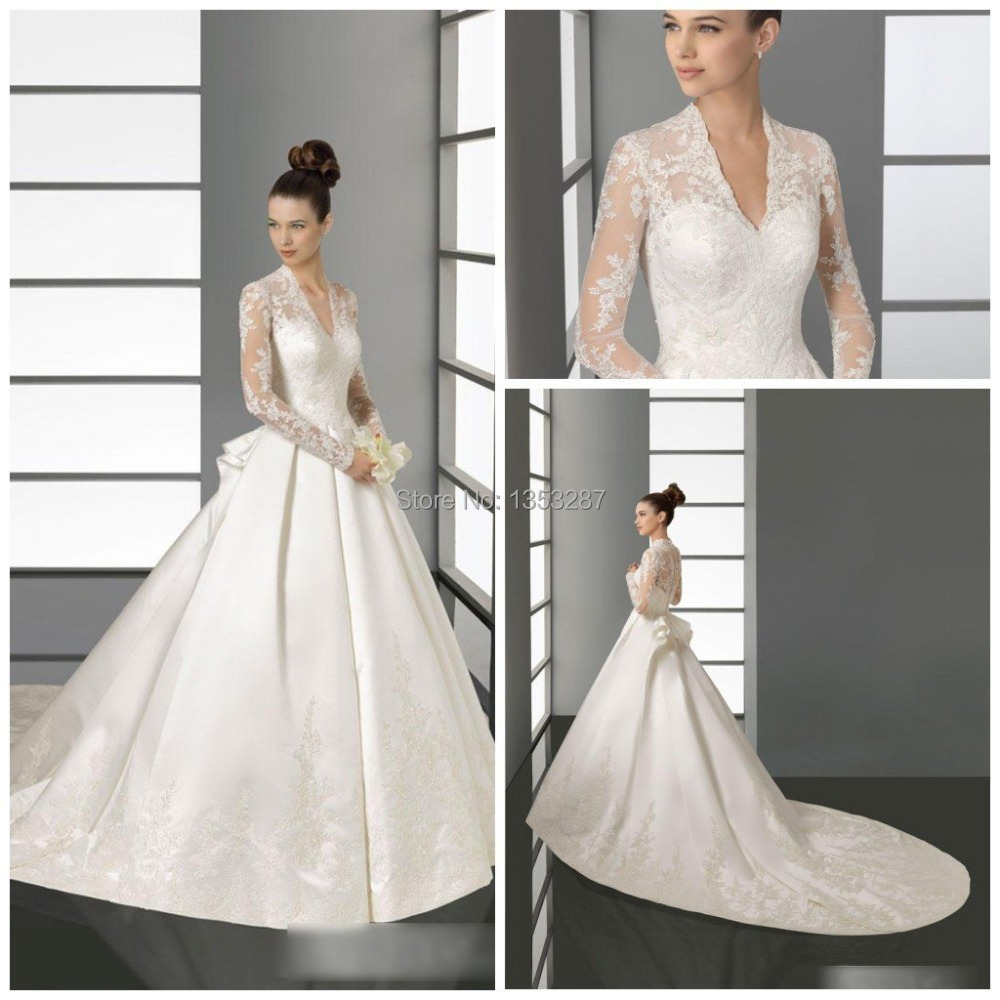 Romantic princess kate wedding dress fashion appliques for Wedding dress princess kate