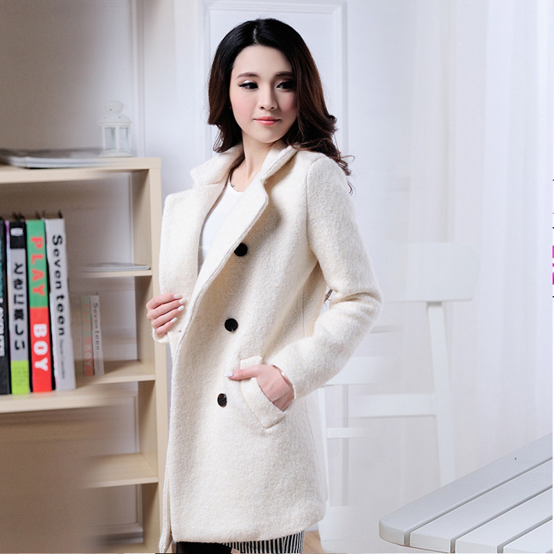 Collection White Wool Coat Womens Pictures - Reikian