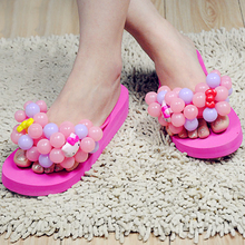 Summer sweet candy colored grapes Slippers Sandals Flip Flops women beach slippers pantoufle femme home slippers