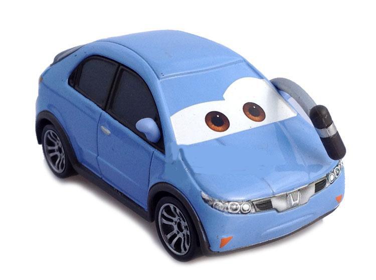 Original 1/55 Scale Pixar Cars 2 Reporter car Diecast Metal Car Toy For Children(China (Mainland))