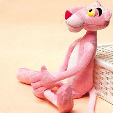 Child Gift Cute Naughty Pink Panther Plush Stuffed Doll Toy Home Decor 40CM(China (Mainland))