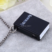 1pcs Vintage Unique Death Note Book Quartz Pocket Watch Pendant Necklace Gift wholesale sale