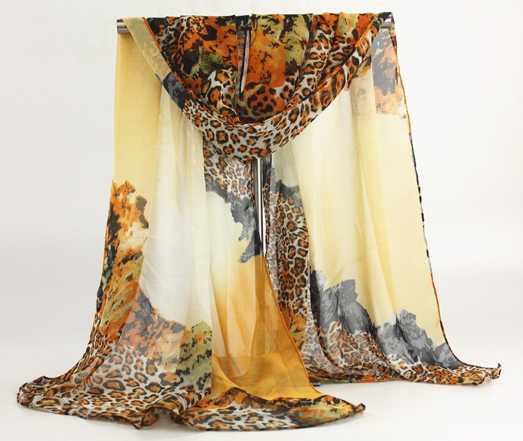 2015 new style scarf thin silk chiffon scarf spring and autumn silk women summer emulation silk patterns sunscreen cape(China (Mainland))
