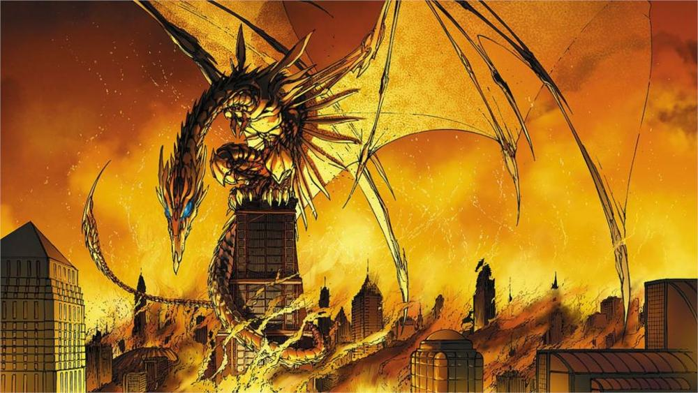 dragons buildings Michael Turner Soulfire Image Comics 4' Size Home Decoration Canvas Poster Print(China (Mainland))