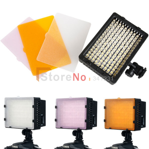 CN-160 160100% New  LED Video Light Camera DV Camcorder Lighting 5400K For Cacon Nikon, Free Shipping Wholesale<br><br>Aliexpress