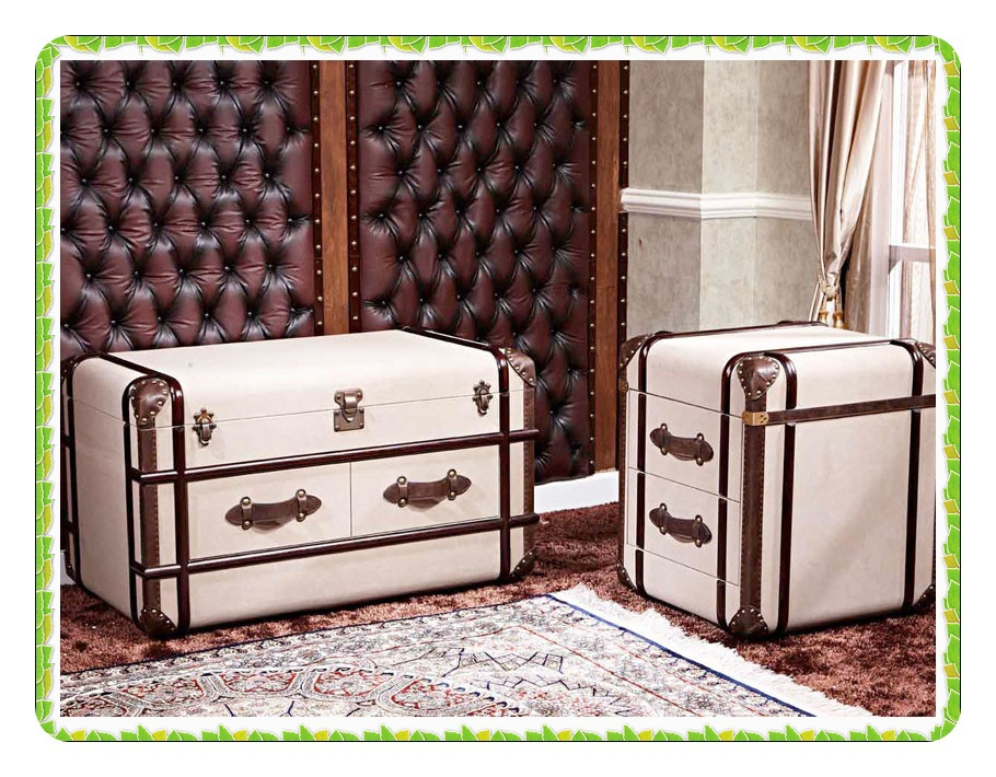 Square leather bedside table antique nightstands with drawers hot selling<br><br>Aliexpress