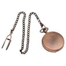 Copper Tone Chain Quartz Pocket Watch Battery Included 42cm 16 1 2 sold per pack of