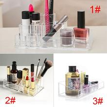 Buy Acrylic 3 Layer Cosmetic Organizer Lipstick Holder Display Stand Clear Makeup Case Makeup Organizador Storage Box Container EH for $6.16 in AliExpress store