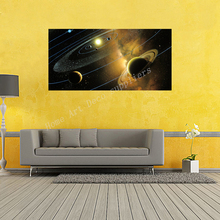 Solar System, Planets, Earth Science Satellite Cosmos Wall Sticker Posters,Bedroom Decoration Science Waterproof Posters WQT025