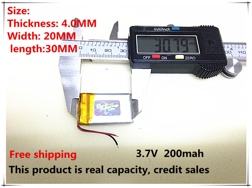 free shipping (5pieces/lot) 3.7V 402030 200mah lithium polymer battery quality goods of CE FCC ROHS certification authority(China (Mainland))