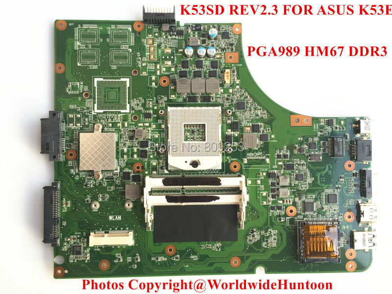 Original K53SD REV2.3 mainboard FOR ASUS K53E laptop motherboard Socket PGA989 DDR3 Intergrated Fully tested and Free shipping(China (Mainland))