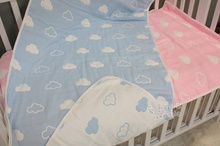 2 color 110*110cm 100% Cotton clouds so Soft  multi-purpose baby swaddle newborn baby muslin Wrap blanket kids bath towel